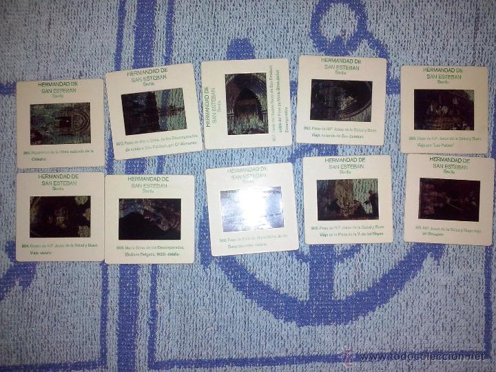 10 DIAPOSITIVAS HERMANDAD DE SAN ESTEBAN SEVILLA (Fotografía Antigua - Diapositivas)