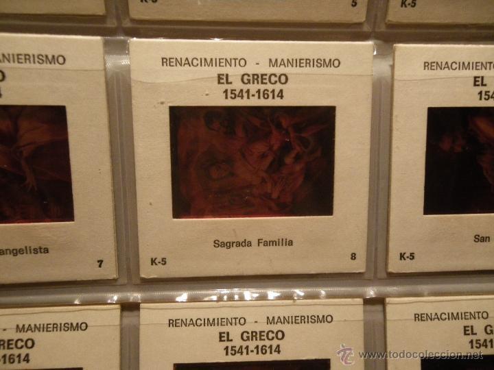 Fotografía antigua: 12 diapositivas Renacimiento - Manierismo EL GRECO K.. ANcora Barcelona K-5 - Foto 2 - 46576980