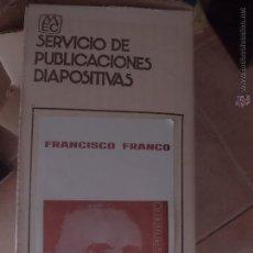Fotografía antigua: 264 DIAPOSITIVAS DE FRANCO. MINISTERIO EDUCACIÓN. INCLUYE CAJA ORIGINAL Y ARCHIVADOR. COMPLETA. Lote 46907880