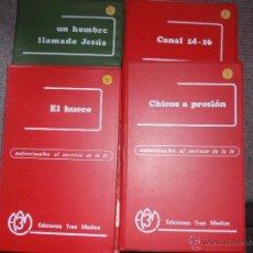 Fotografía antigua: EL HUECO. UN HOMBRE LLAMADO JESÚS. CANAL 14-16. CHICOS A PRESION. EDI. TRES MEDIOS. 204 DIAPOSIT. Lote 47207962