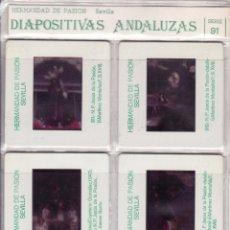 Fotografía antigua: SEMANA SANTA SEVILLA - DIAPOSITIVAS ANDALUZAS - SERIE 91 - HERMANDAD DE PASION. Lote 115434164