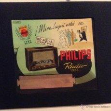 Photographie ancienne: MAGNIFICA DIAPOSITIVA EN COLOR DE RADIOS PHILIPS DE 1953 RADIO ANTIGUA AÑOS 50 ANUNCIO PUBLICIDAD. Lote 47601240