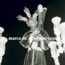 Fotografía antigua: SEMANA SANTA SEVILLA . CRISTO DE LA SALUD DE LOS GITANOS . FINAL AÑOS 50 . CLICHÉ-NEGATIVO ORIGINAL. Lote 48602581