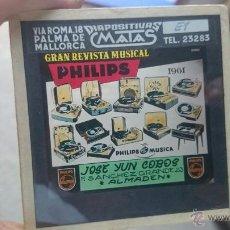 Fotografía antigua: DIAPOSITIVA PHILIPS ANTIGUA GRAN REVISTA MUSICAL PHILIPS 1961 DIAPOSITIVAS MATAS. Lote 49052881