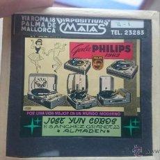 Fotografía antigua: DIAPOSITIVA PHILIPS ANTIGUA TOCADISCOS GALA PHLIPS 1962 DIAPOSITIVAS MATAS PALMA DE MALLORCA. Lote 49052958