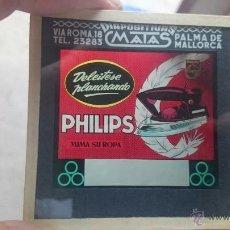 Fotografía antigua: DIAPOSITIVA PHILIPS ANTIGUA PLANCHA PHILIPS DELEITESE PLANCHANDO AÑOS 1960 DIAPOSITIVAS MATAS . Lote 49052976