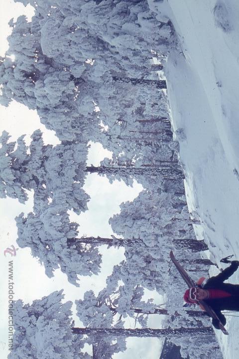 Fotografía antigua: Estación de esquí y tren Puerto de Navacerrada Madrid lote cinco diapositivas Agfacolor, Dic. 1969 - Foto 5 - 49602279