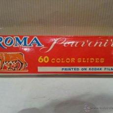 Fotografía antigua: ANTIGUA COLECCION DE 60 DIAPOSITVAS DE ROMA 1 VER FOTOS. Lote 49626066