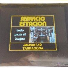 Fotografía antigua: ANTIGUA DIAPOSITIVA, PUCLICIDAD CINE, SERVICIO ESTACION, TODO PARA EL HOGAR, TARRAGONA. 10 X 8,5 CM.. Lote 50087853