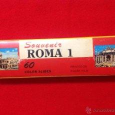 Fotografía antigua: 60 DIAPOSITIVAS SOUVENIR ROMA 1, REALIZADAS POR KODAK, EN SU ESTUCHE, VER FOTOS.. Lote 50291176