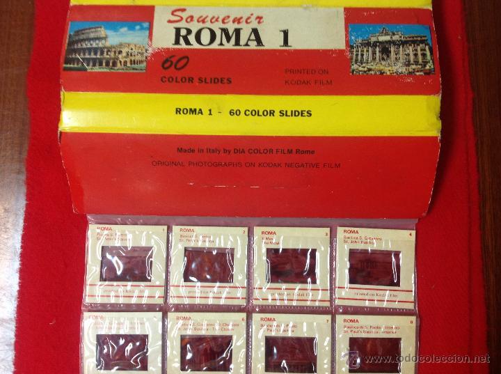 Fotografía antigua: 60 diapositivas souvenir Roma 1, realizadas por Kodak, en su estuche, ver fotos. - Foto 2 - 50291176
