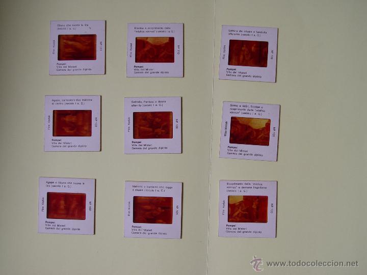 Fotografía antigua: Lote 9 filminas diapositivas Pompeya (Kodak, 1967) Made in Italy ¡Originales! - Foto 2 - 50965027