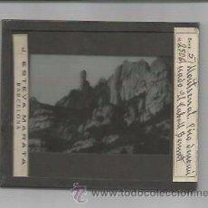 Fotografía antigua: MONTSERRAT-PICO DENOMINADO CABALL BERNAT-FOTOGRAFIA POSITIVO CRISTAL-MIDE 8X10 CM- J.ESTEVA-(V-3005). Lote 51029021