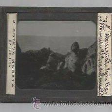 Fotografía antigua: MONTSERRAT-PEÑA GEGANT ENCANTAT -FOTOGRAFIA POSITIVO CRISTAL-MIDE 8X10 CM- J.ESTEVA-(V-3006). Lote 51029053