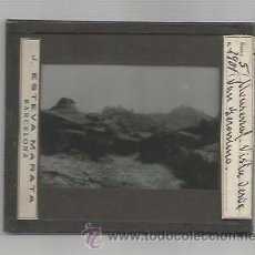 Fotografía antigua: MONTSERRAT-VISTA DESDE SAN GERONIMO -FOTOGRAFIA POSITIVO CRISTAL-MIDE 8X10 CM- J.ESTEVA-(V-3008). Lote 51029096