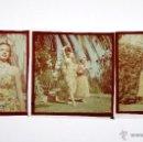 Fotografía antigua: 2 MODELOS, ESPAÑA 1950'S. 3 DIAPOSITIVAS 6X6.. Lote 51152151