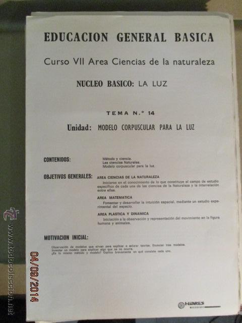 Fotografía antigua: Educacion General Basica - curso septimo naturaleza - 14 tomos - 20 diapositivas por tomo - HIARES - Foto 4 - 51157399