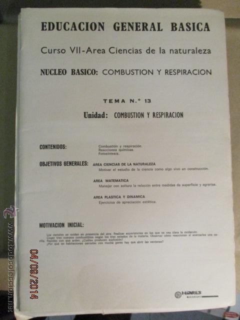 Fotografía antigua: Educacion General Basica - curso septimo naturaleza - 14 tomos - 20 diapositivas por tomo - HIARES - Foto 5 - 51157399