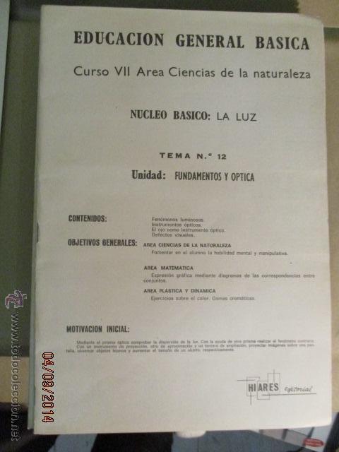 Fotografía antigua: Educacion General Basica - curso septimo naturaleza - 14 tomos - 20 diapositivas por tomo - HIARES - Foto 6 - 51157399