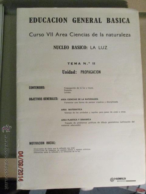 Fotografía antigua: Educacion General Basica - curso septimo naturaleza - 14 tomos - 20 diapositivas por tomo - HIARES - Foto 7 - 51157399