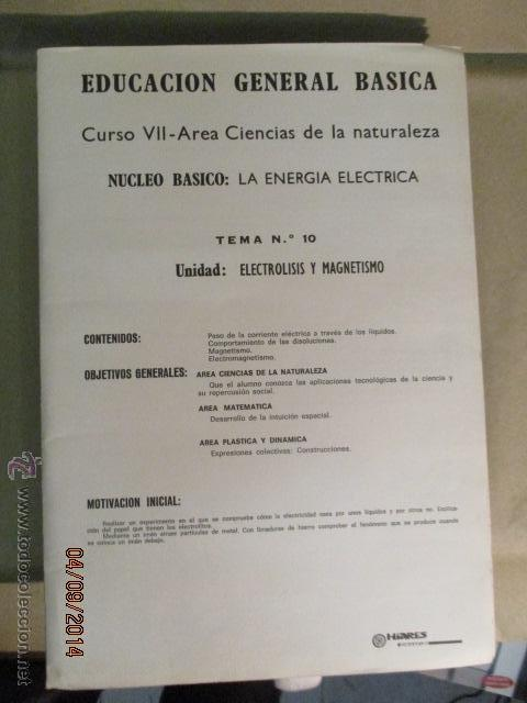 Fotografía antigua: Educacion General Basica - curso septimo naturaleza - 14 tomos - 20 diapositivas por tomo - HIARES - Foto 8 - 51157399
