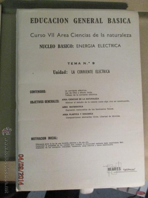 Fotografía antigua: Educacion General Basica - curso septimo naturaleza - 14 tomos - 20 diapositivas por tomo - HIARES - Foto 9 - 51157399