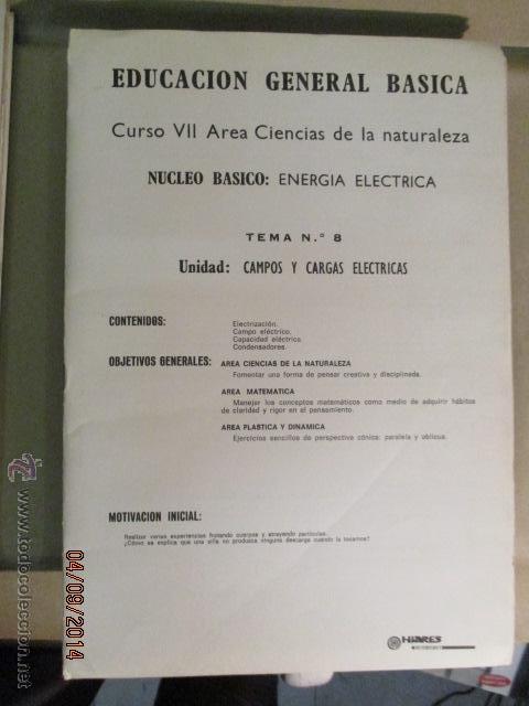 Fotografía antigua: Educacion General Basica - curso septimo naturaleza - 14 tomos - 20 diapositivas por tomo - HIARES - Foto 10 - 51157399