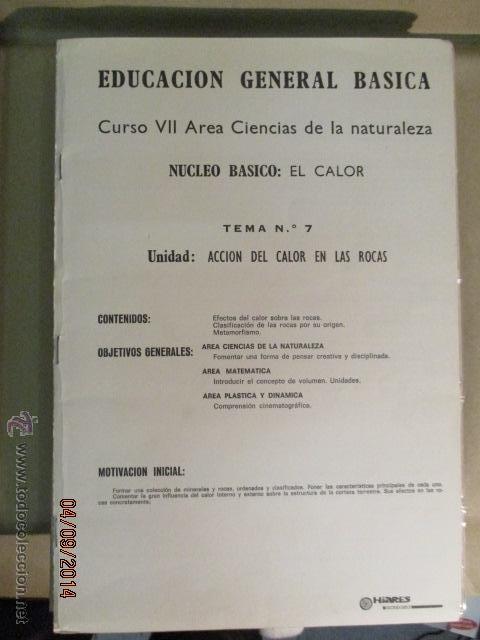 Fotografía antigua: Educacion General Basica - curso septimo naturaleza - 14 tomos - 20 diapositivas por tomo - HIARES - Foto 11 - 51157399