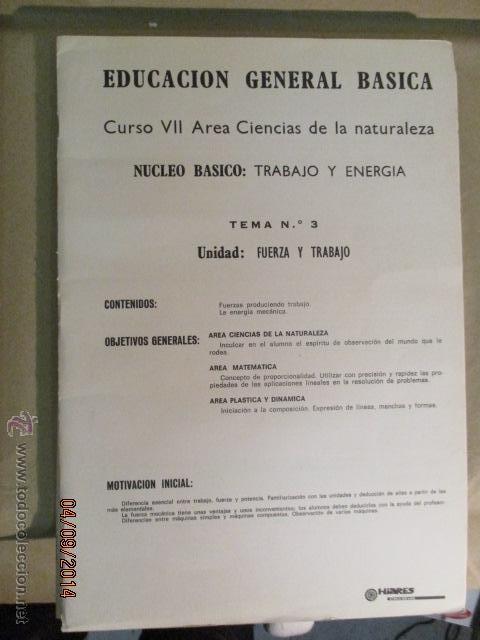 Fotografía antigua: Educacion General Basica - curso septimo naturaleza - 14 tomos - 20 diapositivas por tomo - HIARES - Foto 15 - 51157399