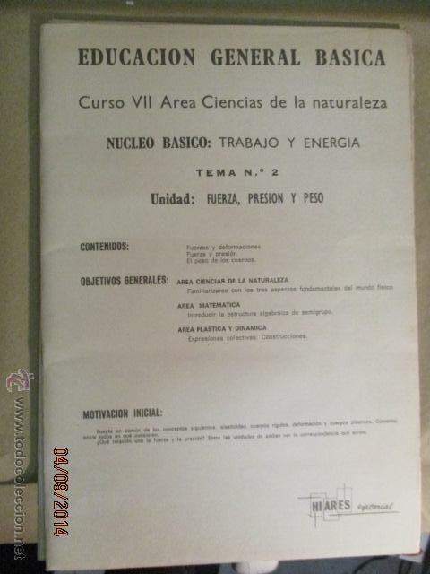 Fotografía antigua: Educacion General Basica - curso septimo naturaleza - 14 tomos - 20 diapositivas por tomo - HIARES - Foto 16 - 51157399