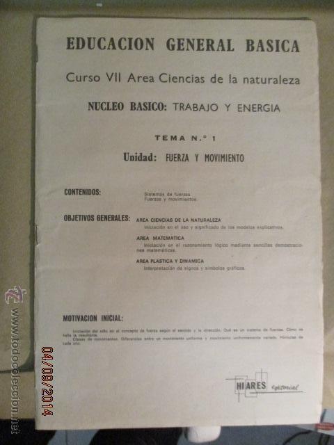 Fotografía antigua: Educacion General Basica - curso septimo naturaleza - 14 tomos - 20 diapositivas por tomo - HIARES - Foto 17 - 51157399
