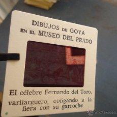 Fotografía antigua: OFICIAL ORIGINAL DIAPOSITIVA DIBUJOS DE GOYA EN EL MUSEO DEL PRADO POR SANZ VEGA. Lote 51332679