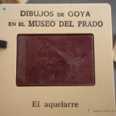 Fotografía antigua: OFICIAL ORIGINAL DIAPOSITIVA DIBUJOS DE GOYA EN EL MUSEO DEL PRADO POR SANZ VEGA . Lote 51339802