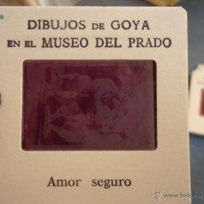 Fotografía antigua: OFICIAL ORIGINAL DIAPOSITIVA DIBUJOS DE GOYA EN EL MUSEO DEL PRADO POR SANZ VEGA . Lote 51339807