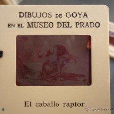Fotografía antigua: OFICIAL ORIGINAL DIAPOSITIVA DIBUJOS DE GOYA EN EL MUSEO DEL PRADO POR SANZ VEGA . Lote 51339809