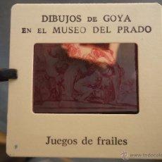 Fotografía antigua: OFICIAL ORIGINAL DIAPOSITIVA DIBUJOS DE GOYA EN EL MUSEO DEL PRADO POR SANZ VEGA . Lote 51339836