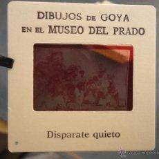 Fotografía antigua: OFICIAL ORIGINAL DIAPOSITIVA DIBUJOS DE GOYA EN EL MUSEO DEL PRADO POR SANZ VEGA . Lote 51339841