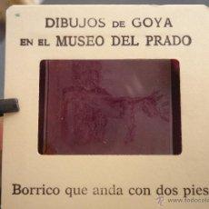 Fotografía antigua: OFICIAL ORIGINAL DIAPOSITIVA DIBUJOS DE GOYA EN EL MUSEO DEL PRADO POR SANZ VEGA . Lote 51339854