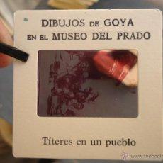 Fotografía antigua: OFICIAL ORIGINAL DIAPOSITIVA DIBUJOS DE GOYA EN EL MUSEO DEL PRADO POR SANZ VEGA . Lote 51339858