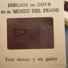 Fotografía antigua: OFICIAL ORIGINAL DIAPOSITIVA DIBUJOS DE GOYA EN EL MUSEO DEL PRADO POR SANZ VEGA . Lote 51339874