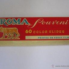 Fotografía antigua: 14 DIAPOSITIVAS ANTIGUAS A COLOR DE ROMA ITALIA SOUVENIR KODAK FILM .. Lote 52297226