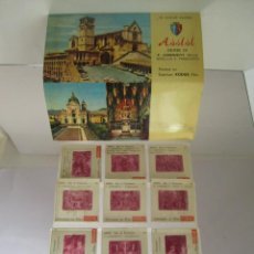 Fotografía antigua: 12 DIAPOSITIVAS ANTIGUAS COLOR BASÍLICA S FRANCISCO ASÍS ITALIA SOUVENIR KODAK FILM .. Lote 54412807
