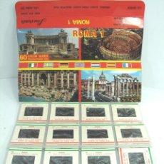 Fotografía antigua: 60 DIAPOSITIVAS COLOR - ROMA 1 I UNO- EN ESTUCHE - SOUVENIR KODAK - DIAPOSITIVA. Lote 55685844