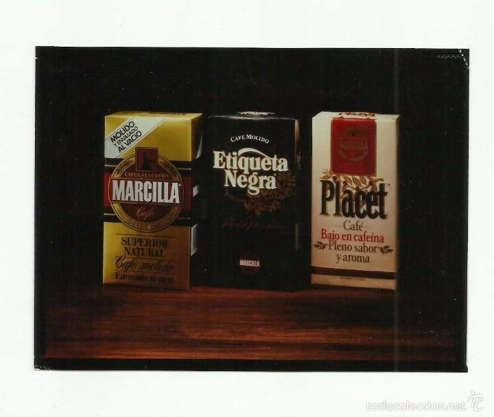 FOTOGRAFÍA PUBLICIDAD EN NEGATIVO -CAFÉS MARCILLA- (Fotografía Antigua - Diapositivas)