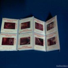 Fotografía antigua: 10 ANTIGUAS DIAPOSITIVAS DEL CASTILLO DE LA ALJAFERIA, ZARAGOZA.. Lote 58153222