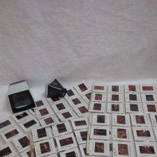 Fotografía antigua: LOTE DE 96 DIAPOSITIVAS OBRAS DE ARTE Y DOS VISORES DE DIAPOSITIVAS . Lote 58210655