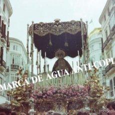 Fotografía antigua: SEMANA SANTA MÁLAGA CLICHÉ-NEGATIVO ORIGINAL. FINAL DE LOS AÑOS 70. Lote 59230635