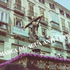 Fotografía antigua: SEMANA SANTA MÁLAGA . CLICHÉ-NEGATIVO ORIGINAL . FINAL DE LOS AÑOS 70. Lote 59243770