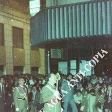 Fotografía antigua: MILITAR EN DESFILE PROCESIONAL SEMANA SANTA MÁLAGA. CLICHÉ-NEGATIVO ORIGINAL. FINAL DE LOS AÑOS 80. Lote 59479679