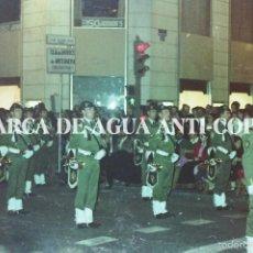 Fotografía antigua: BANDA DE MÚSICA DE LA SEMANA SANTA DE MÁLAGA. CLICHE-NEGATIVO ORIGINAL. PRINCIPIO DE LOS AÑOS 80. Lote 59480044
